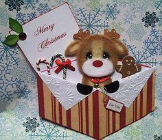 Christmas scrapbook Tear bear reindeer