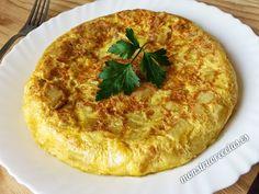 Receta fácil de tortilla de patatas, todo un clásico típico de España.