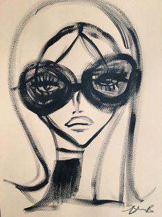 Pretty Art, Cute Art, Art Sketches, Art Drawings, Arte Peculiar, Arte Fashion, Posca Art, Funky Art, Art Hoe