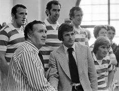 Jock Stein welcomes Pat Stanton to Celtic Celtic Signs, Celtic Fc, Glasgow, Edinburgh, Retro Football, Legends, Champion, The Past, Soccer