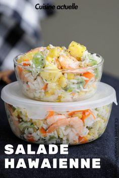 Recette salade, salade de riz, salade été, salade salée facile
