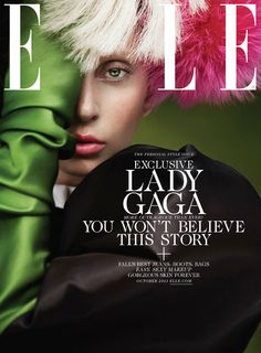 Lady Gaga stars as a cover girl for the October issue of American Elle magazine, photographed by Ruth Hogben and styled by Brandon Maxwell.