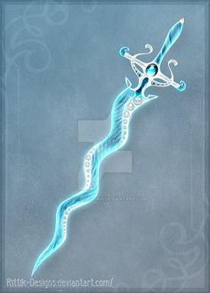 I continue the series of Elemental swords. This time it's Water. The auction is finished (winner is ) DO NOT edit, trace, copy or repost this design! It now belongs to