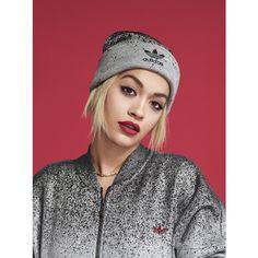 Adidas Rita Ora Supergirl Track Jacket (150 BRL) ❤ liked on Polyvore featuring activewear, activewear jackets, medium grey heather, warm up jackets, adidas jerseys, sports warm up jackets, tracksuit jacket and sport jerseys