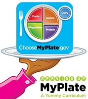 Serving Up MyPlate: A Yummy Curriculum What are healthy food choices? What is a balanced diet? Serving Up MyPlate is a new collection of classroom materials that helps elementary school teachers integrate nutrition education into Math, Science, English Language Arts, and Health. This yummy curriculum introduces the importance of eating from all five food groups using the MyPlate icon and a variety of hands–on activities. Students also learn the importance of physical activity to staying…