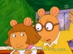 The relatable love-hate sibling relationship between Arthur and D.W