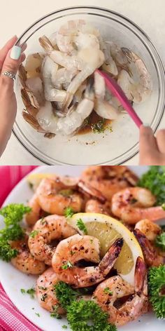 This grilled Honey Lemon Shrimp recipe is easy to make and has the perfect combination of sweet and sour to it that your whole family will love! Add them over salad, or serve with quinoa or veggies! Shrimp Recipes For Dinner, Shrimp Recipes Easy, Fish Recipes, Lunch Recipes, Seafood Recipes, Indian Food Recipes, Healthy Dinner Recipes, Beef Recipes, Appetizer Recipes