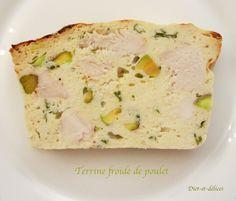 Terrine froide de poulet : Diet & Délices - Recettes dietétiques