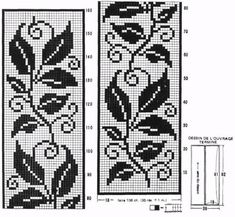 Filet Crochet Patterns of the Rug - Leaves Filet Crochet, Crochet Patterns Filet, Crochet Doily Rug, Crochet Leaves, Crochet Curtains, Crochet Cross, Crochet Flower Patterns, Doily Patterns, Crochet Chart