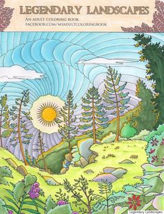 Carrie And Witek Radomski Is Raising Funds For Legendary Landscapes Adult Coloring Book On Kickstarter An Ambitious New
