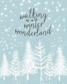 Winter Wonderland Free Printable   YellowBlissRoad.com