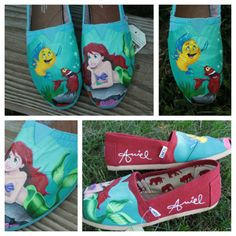My new custom made little mermaid toms!! My toms are better than yours! ❤