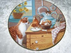 1988 Table Manners Kittens Fine Porcelain Plate from Country Kitties Collection