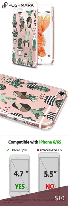Brand New iPhone 6s Cactus Phone Case Got the wrong one for Christmas and returning it would cost the price of the case 🙄. Brand new in package. Case is clear with cactus. Pictures show it on a rose Gold phone. Accessories Phone Cases