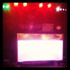 Front of dj booth