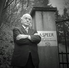 Albert Speer Hitler's personal architect, also in charge of the Third Reich's Armament Production and War Industries. The picture has an article attached which is a great article on Speer.