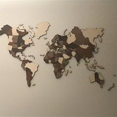 World Wall Map Anniversary Gift World Map Wooden Travel Push | Etsy Anniversary Gifts For Husband, Home Symbol, Wooden Airplane, Countries And Flags, Double Sided Sticky Tape, Affordable Furniture Stores, Christmas Gifts For Husband, Wall Maps