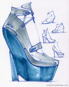 Sketches - High heels, some experimentation with women's shoes.