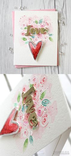 RejoicingCrafts: Valentine's day card with Simon Says Stamp You Have My Heart Release! #simonsaysstamp #valentine #love #watercolor #flowerbouquet