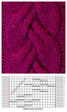 free cable knitting stitch pattern, chart only. Website is in Russian free cable knitting stitch pattern, chart only. Website is in Russian. cable knitting stitch pattern, chart only. Website is in Russian Cable Knitting Patterns, Knitting Stiches, Knitting Charts, Lace Knitting, Knitting Designs, Knit Patterns, Crochet Stitches, Stitch Patterns, Cable Chart