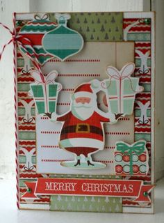 Kaisercraft gingerbread card by Hilde Janbroers-Stolk