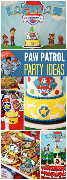 How fun is this colorful Paw Patrol boy birthday party?! See more party ideas at CatchMyParty.com!