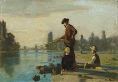 Ferdinand Hodler - Der Angler, um 1879