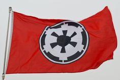 Large Galactic Empire Star Wars landscape flag 3X5Ft   eBay