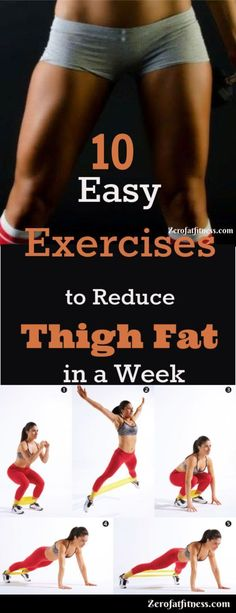 Easy Exercises to Reduce Thigh Fat in a Week The best leg workout. 9 exercises for women to help reduce thigh fat.The best leg workout. 9 exercises for women to help reduce thigh fat. Fitness Workouts, Easy Workouts, Fitness Tips, Fitness Motivation, Fitness Weightloss, Health Fitness, Reduce Thigh Fat, Exercise To Reduce Thighs, Best Leg Workout