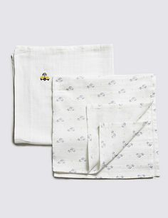 Pure Cotton 4 Pack Muslin Square | M&S