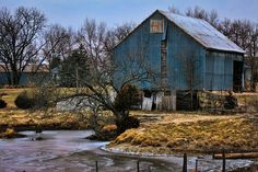 Blue barn#Repin By:Pinterest++ for iPad#