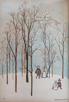 Illustration in Everywoman's Family Circle, December 1959 by Gyo Fujikawa