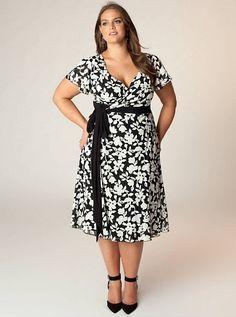 Perfect to wear to a garden wedding. Plus Size Drape Neck Body-Con ...