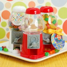 Candy Land Birthday Party Favors-Mini Classic Empty Gumball Machine by Beau-coup
