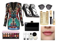 """""""Untitled #62"""" by perlahak on Polyvore featuring Balmain, Dolce&Gabbana, Christian Dior, Forever 21, Anastasia Beverly Hills and Bobbi Brown Cosmetics"""