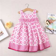 $19.66 (Buy here: https://alitems.com/g/1e8d114494ebda23ff8b16525dc3e8/?i=5&ulp=https%3A%2F%2Fwww.aliexpress.com%2Fitem%2FBrand-new-2016-summer-baby-Pink-flowers-Kids-Children-s-girl-Dress-Princess-Dresses-for-girls%2F32707452797.html ) Brand new 2016 summer baby Pink flowers Kids Children's girl Dress Princess Dresses for girls clothes Costume outfits bb26 for just $19.66
