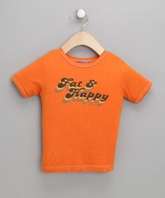 Take a look at this Pumpkin 'Fat & Happy' Organic Tee by Small Plum on #zulily today!