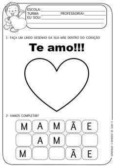 Mom Day, Professor, Teaching, Education, Veronica, Homeschooling, Facebook, Letter M Activities, Mother's Day Activities
