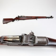M1 Garand Rifle - The best battle rifle of WWII was America's M1 Garand and about the only aspect not as well liked by users was how it had to be loaded. Pushing down the loaded enbloc clip (filled with eight dummy cartridges) might earn you a mashed thumb if you didn't hold back the operating rod handle just the right way with the heel of your hand. But the Garand did deliver the goods in both Europe and Asia when we needed it!