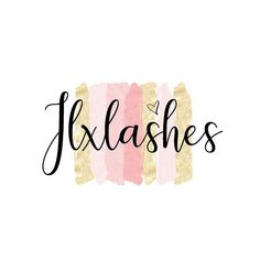 Lashes Logo, Business Logo, Pink And Gold, Logos, Instagram, Decor, Decoration, Dekoration, Inredning