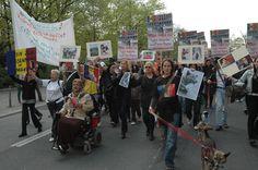 Rumänien-Demo 16.04.2011 mit Maja von Hohenzollern