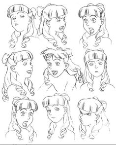 Scarlett O'Hara St. Jones Expressions Sheet by Katsuhiro Otomo