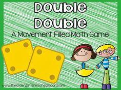 The Kindergarten Smorgasboard: A Kindergarten Smorgasboard Double Double Addition Game!