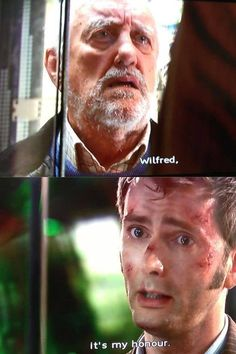 That time the Doctor died for one little old man...I'm not crying, you're crying.