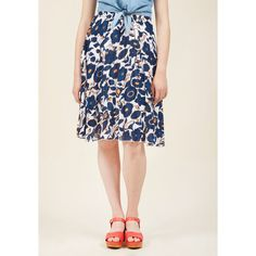 Compania Fantastica Debut Book Club Midi Skirt ($60) ❤ liked on Polyvore featuring skirts, apparel, bottoms, full skirt, varies, accordion pleated skirt, navy blue pleated skirt, navy blue midi skirts, white midi skirt and full midi skirts