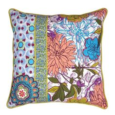I pinned this Botanical Patchwork Pillow in Multi from the Karma Living event at Joss & Main!