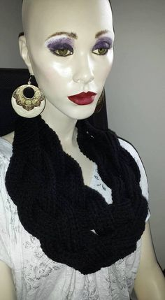 Braided Cowl by Lilyandgoodies on Etsy