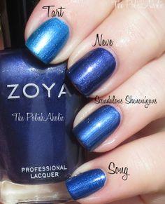 Fall 2013 OPI, China Glaze, Zoya - Zoya Neve vs China Glaze Scandalous Shenanigans vs Zoya Tart vs Zoya Song