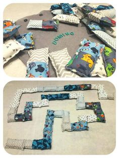 Handmade fabric domino game.Gift for kids!Boy Toy! by DVSparkS on Etsy