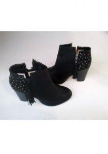 Ladies black tan block Heel zip studs metals metal trim Chelsea ankle boots. Shoe Boots, Ankle Boots, Ladies Footwear, Metal Trim, Tans, Spring Fashion, Fashion Shoes, Chelsea, Slippers